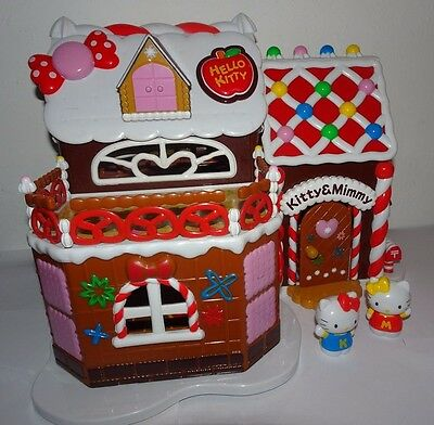 Hello Kitty & Mimmy Gingerbread Ginger Bread Cottage Dolls House Toy Playset