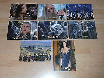 THE LORD OF THE RINGS - TWO TOWERS - 8 lobby cards ´02 - PETER JACKSON