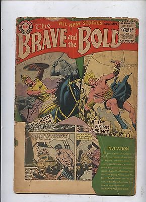 Brave and Bold comics #1 Kubert Viking prince Shining knight POOR FILLER COPY