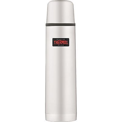 THERMOS Isolierflasche Light & Compact Steel matt 0,75 L Edelstahl Doppelwandig