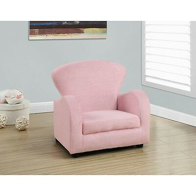 Monarch Fuzzy Juvenile Chair - Pink