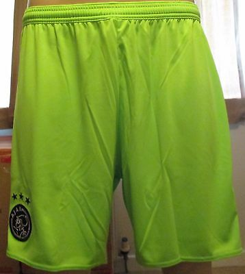 Ajax away football shorts size L Adidas 2015 2016 BNWT