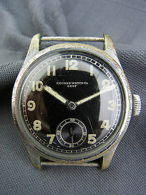alte Dienstuhr Record Watch Co Genf  Wehrmacht WW 2 Deutsches Heer