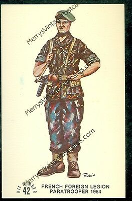 French Foreign Legion Paratrooper 1954 (notmailedpost card(MY#948)
