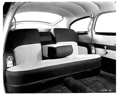1950 Nash Airflyte Interior ORIGINAL Factory Photo ouc0255