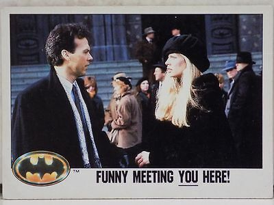 Topps Batman Movie Trading Card Number 56 Funny Meeting You Here 1989 Dc Comics