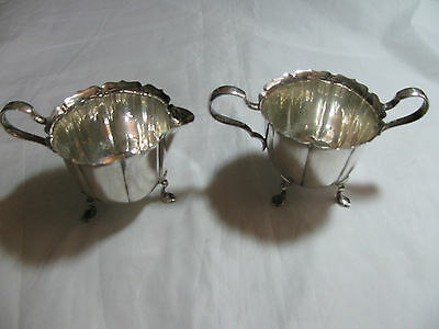 Lunt Sterling Silver Footed Creamer & Sugar Bowl 742-F