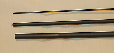 IM6, 3 Pc, 6 wt, 10 Ft Fly Rod Blank, 1 Tip, Dull Mate Black, by Roger