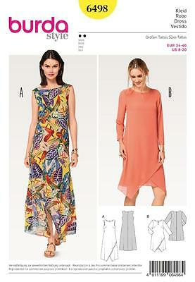 Burda Sewing Pattern Misses' Two-Layered Dresses Size 8 - 20 6498