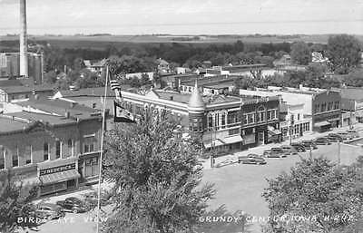 Grundy Center Iowa Birdseye View Of City Real Photo Antique Postcard K51984