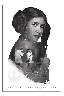 Star Wars Princess Leia May The Force Be With You Poster - Maxi Size 36 x 24""