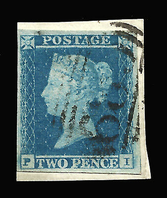 GREAT BRITAIN Yv 4 on fragment cahcet 68, Used - Nice