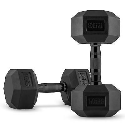 CAPITAL SPORTS Hexbell Dumbbell Paire d'haltères courts 2 x 17,5 kg musculation