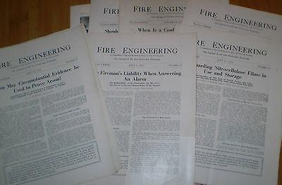 Fire Engineering 6 issues from 1930, As Is