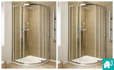 Quadrant Shower Enclosure Tall Walk In Cubicle Glass Door + Tray and Free Waste
