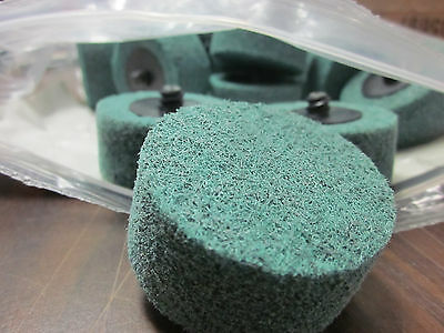 "320 GRIT 25pc 2"" x 1"" ROLOC ROLL LOCK TYPE R SILICON CARBIDE CYLINDER SCUFF DISC"