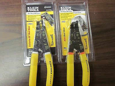 ~ 2 ~ New Klein Tools Bent Nose Nm Cable Stripper Cutter K90 10/2 And 14/2 Sen
