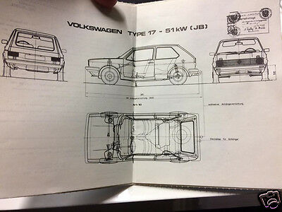 Orig. österr. Typenschein title VW Golf 1 MK I Type 17 Kombi 70 PS EZ 1978 2