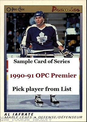 1990-91 OPC Premier | #66-132 | Hockey | Pick from List | Fnish your set