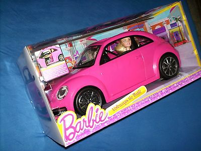 BARBIE - VW Volkswagen Beetle plus Puppe - BJP37 - neu & OVP