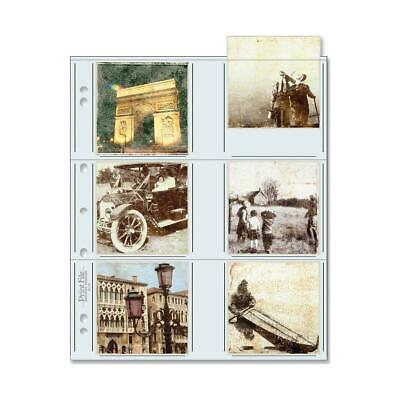 """Print File 33-12P Archival Storage Page for 12 3.5"""" x 3.5"""" Prints, 100-Pack"""