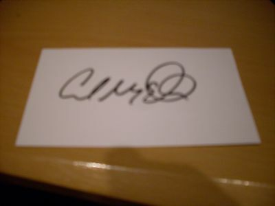 signed card of ex leicester city stoke city celtic goalkeeper carl muggleton