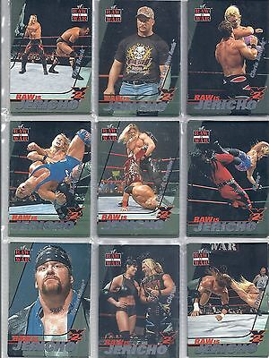 Choose your 2001 Fleer WWF Raw Is War Raw Is Jericho RJ Trading Card
