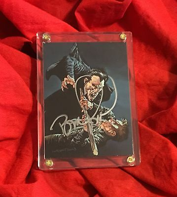 More Macabre Trading Card~Hand-Signed By Bernie Wrightson~Dracula Vampire~#34
