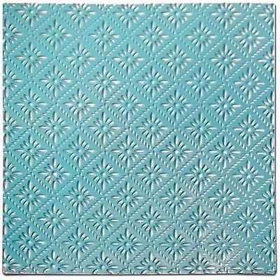 Salvaged Tin Ceiling Tile-Turquoise Rosette 700254535623