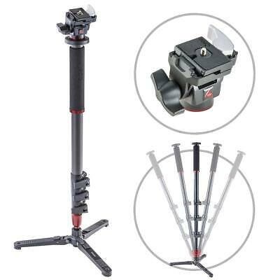 3Pod 4-Section Carbon Fiber Photo/Video Monopod w/Fluid Base  Tilt Head w/Q.R.