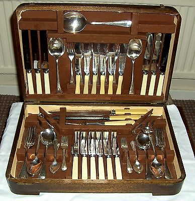 Vintage Silver Plated EPNS canteen cutlery B J Sippel, Sheffield  66 pieces