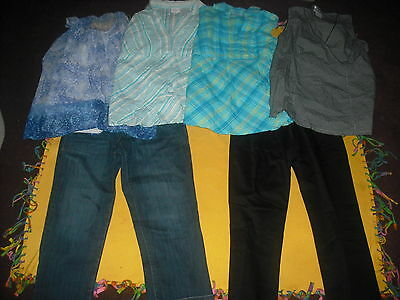 Womens Maternity Lot 6 Capris and Tops Size M Medium Super Nice