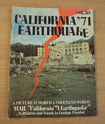 "SOUVENIR Mailer Magazine~""CALIFORNIA '71 EARTHQUAKE""~Photos/Destruction~"
