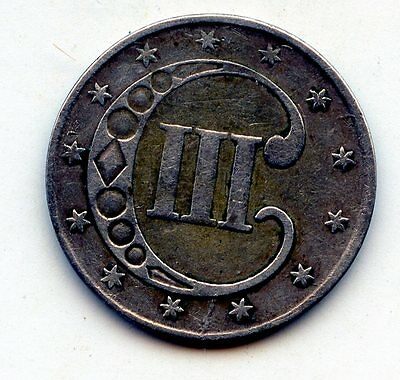 1852 silver three cent piece  (SEE PROMO)