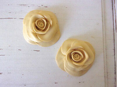 Furniture Appliques * Roses (2) * Flexible * Paintable * Stainable