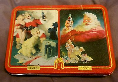 Christmas Coca-Cola Playing Cards- 2 Decks New In Tin- 1996