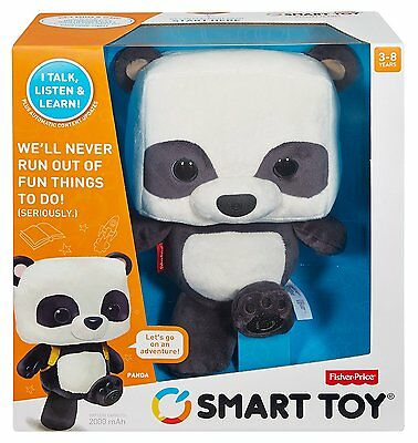 Fisher Price Smart Toy Panda Bear Interactive 4 Bonus Card Packs Included *new*