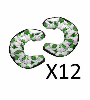A&R Sports TuffTerrys Cloth Hockey Skate Blade Cover Protector Shamrock(12-Pack)