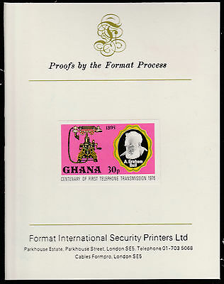 Ghana (1593)  1976 TELEPHONE 30p imperf on Format International PROOF  CARD