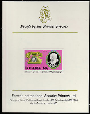 Ghana (1594)  1976 TELEPHONE 60p imperf on Format International PROOF  CARD