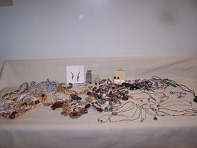 3 Lbs. Miscellaneous Costume Jewelry- All Wearable - Little Bit of Sterling