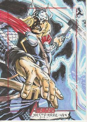 Marvel Greatest Heroes 2012 -  Color Sketch Card by St. Pierre - Thor