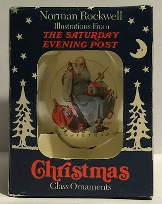 Norman Rockwell Christmas Glass Ornament The Saturday Evening Post Peace New
