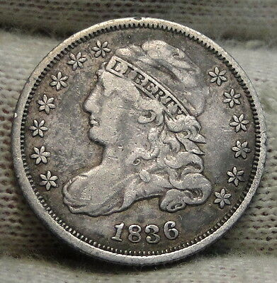 1836 Capped Bust Dime 10 Cents - Nice Coin, Free Shipping  (5495)