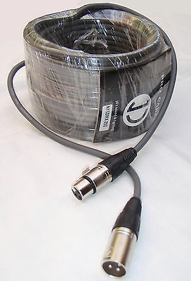 20m DMX Cable 3pin male to 3pin female - 110ohm - Grey colour