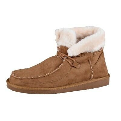 Uncle Sam Womens Winter Boots in Brown Padded