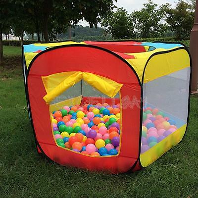 Foldable Kids Baby Play House Hideaway Pop UP Tent Ball Bit Pool Game Play Hut