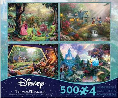 Thomas Kinkade Disney Dreams Collection Multi-Pack 4 In 1 Puzzle 500 Pcs #3668-1