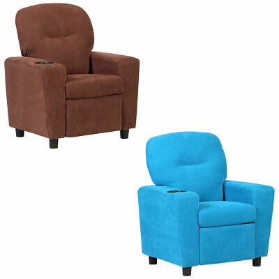 Kids Recliner Armchair Childrenu0027s Furniture Sofa Seat Couch Chair W/Cup  Holder