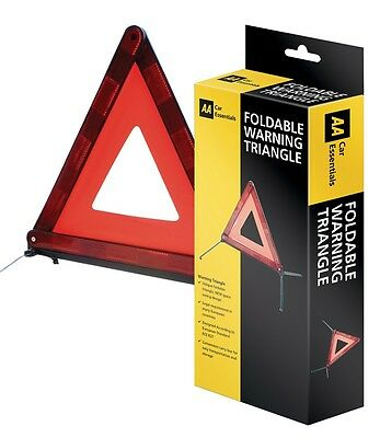 Aa Car Foldable Warning Triangle Essential Euro European Safety Travel Kit